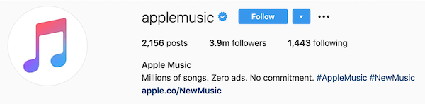 instagram bios applemusic