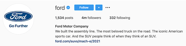 instagram bios ford