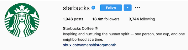 instagram bios starbucks