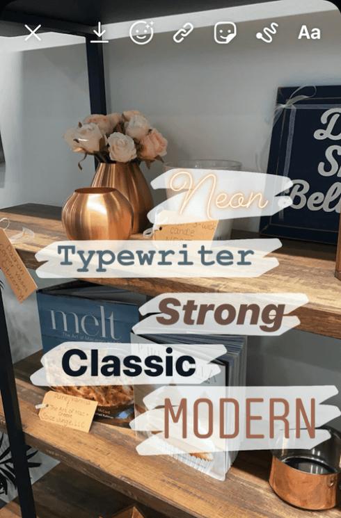 instagram-story-hacks-font-selection