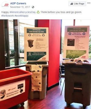 november marketing ideas america recycles day efforts