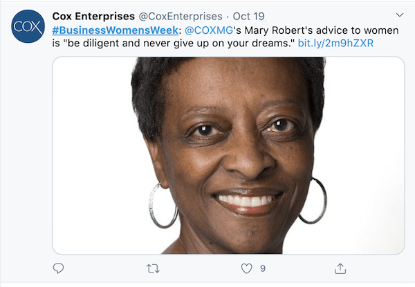 october marketing ideas national women in business week