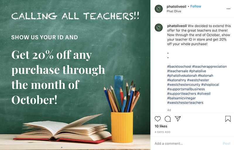sales promotion examples teacher special