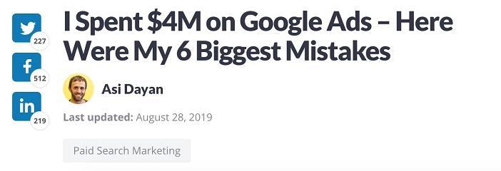 headline example
