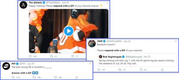 social media engagement with Twitter gifs