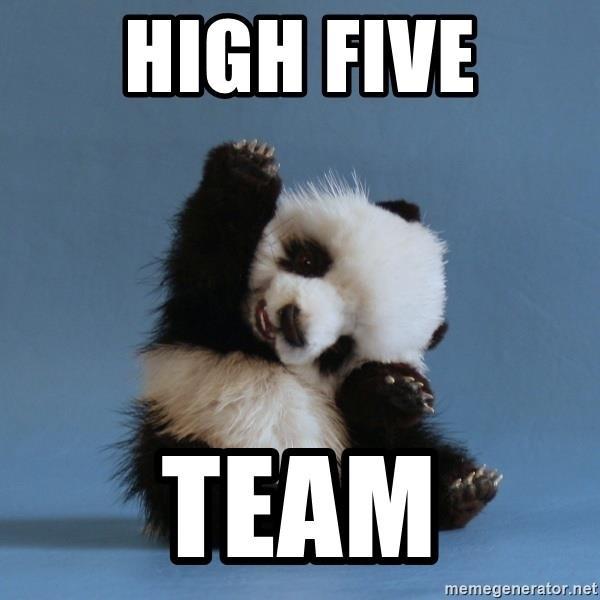 high five team meme