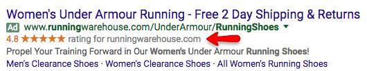 classificação do vendedor under armour