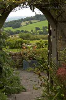 Leading to the hills, Burrow Farm Garden