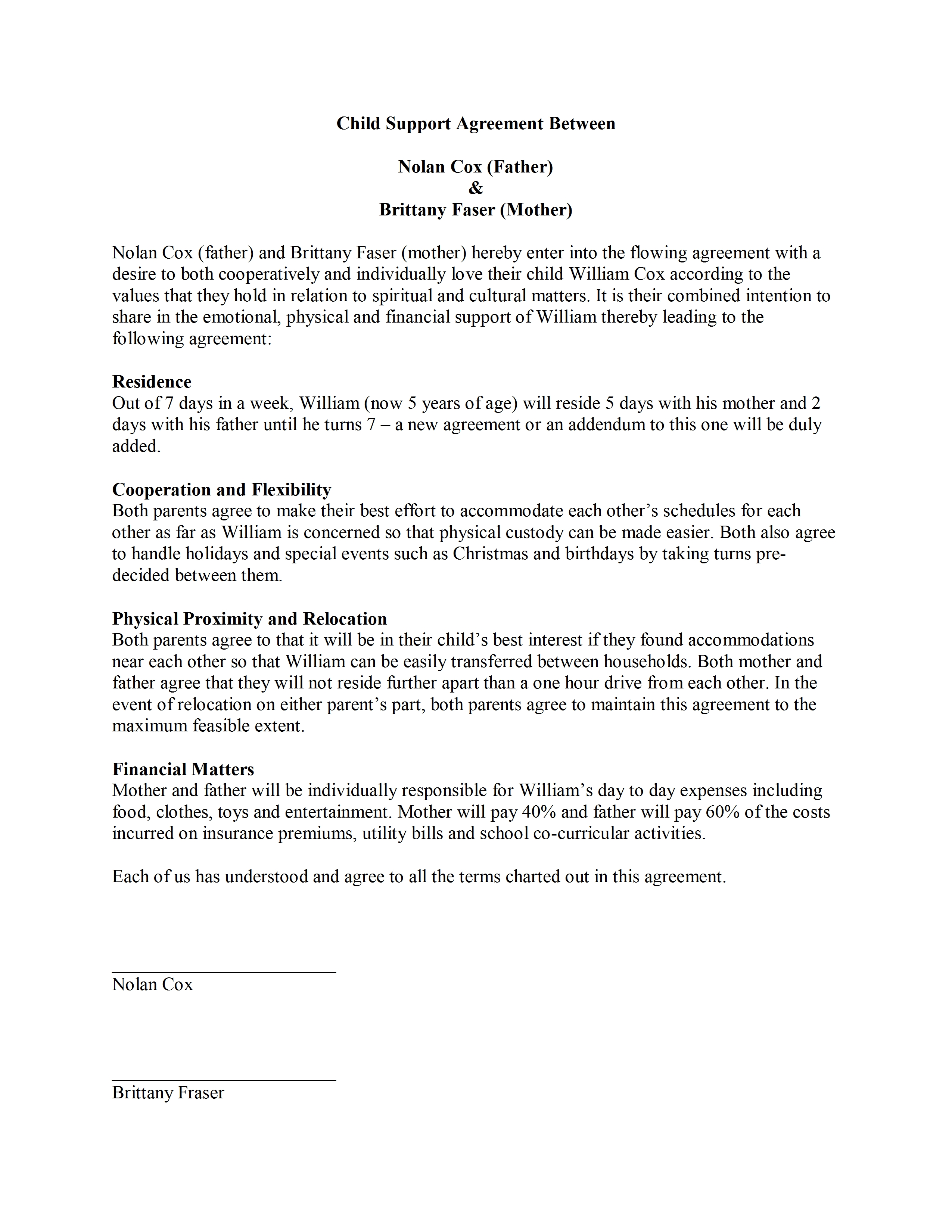 Separation Agreement Template Common Law Create