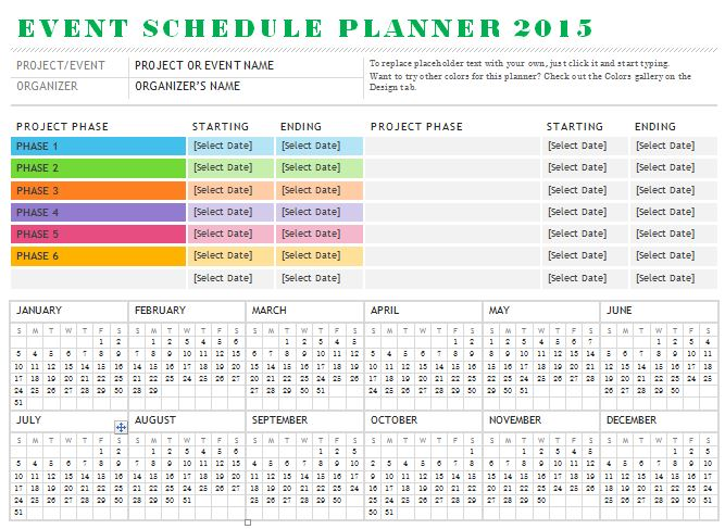event planning schedule template - April.onthemarch.co