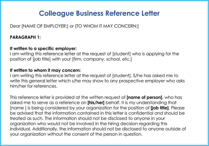 Business Reference Letter: Write It Effectively (6+ Best