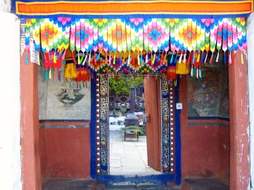 Entrance to the unimposing but peaceful Kyichu Lhakhang