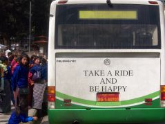 Happy passengers in Thimphu