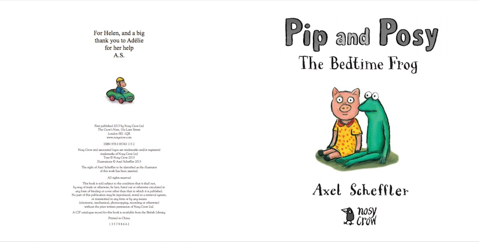 Pip and Posy: Bedtime Frog (Nosy Crow Picture Book