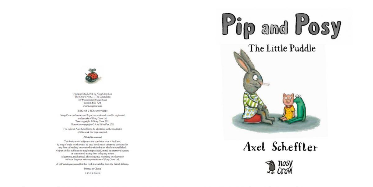 Pip and Posy: The Little Puddle (Nosy Crow Picture Book