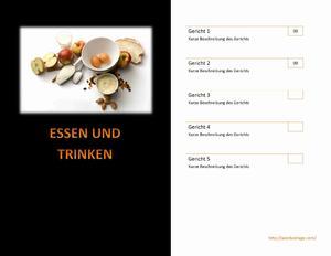 Restaurant Speisekarte  Word Vorlagen  Word Vorlagen Kostenlos  Microsoft Word Vorlagen