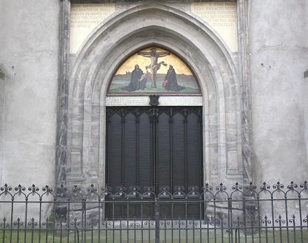Graphic Wittenberg Church Doors (bronze)