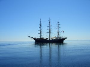 Graphic Sailing Ship