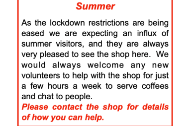 We are OPEN and would welcome more volunteers