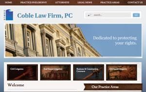 Mobile Website Designers Wilmington NC - Coble Law Firm, PC