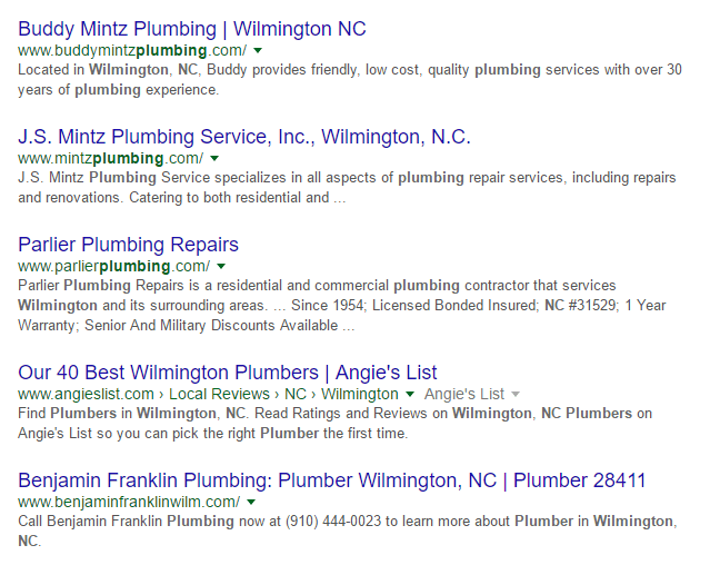 Plumbers Wilmington NC | Plumbing Repair Wilmington NC