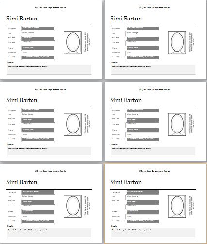 employee profiling template