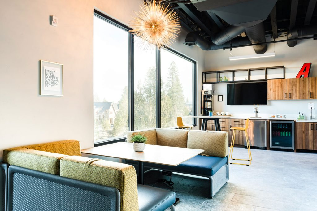 The café workspace or event space at The Collective NWX