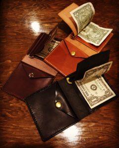 俺の財布、革、ハンドメイド
