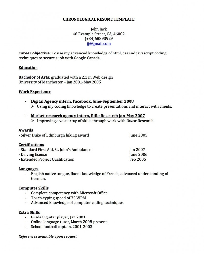 Resume Example Backpacker Resume Ixiplay Free Resume Samples