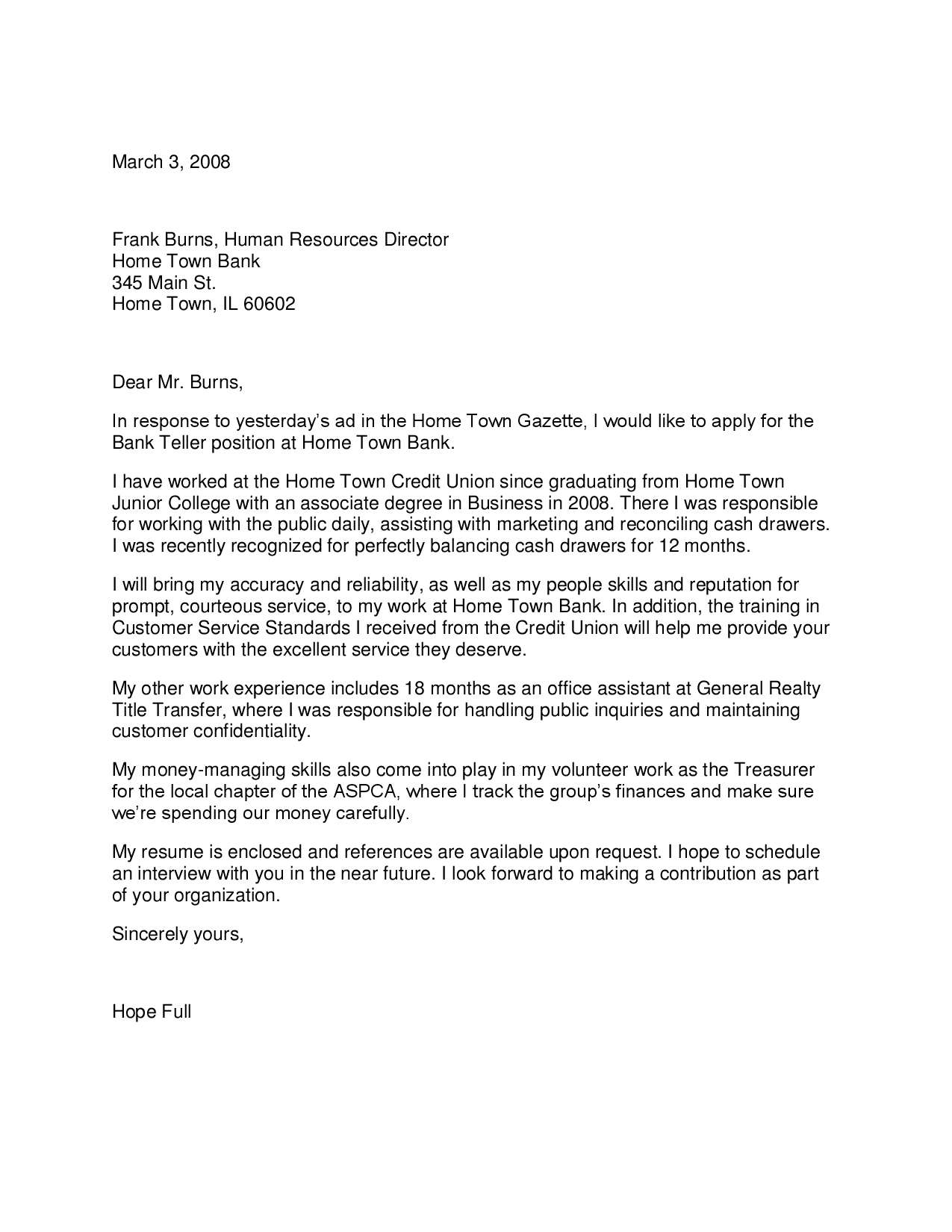 Bank Reference Letter Chase