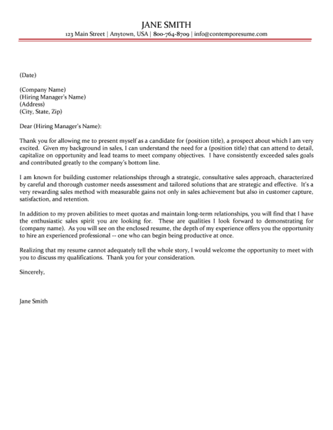 Management Cover Letter 7 Facilities Property Manager 6 S