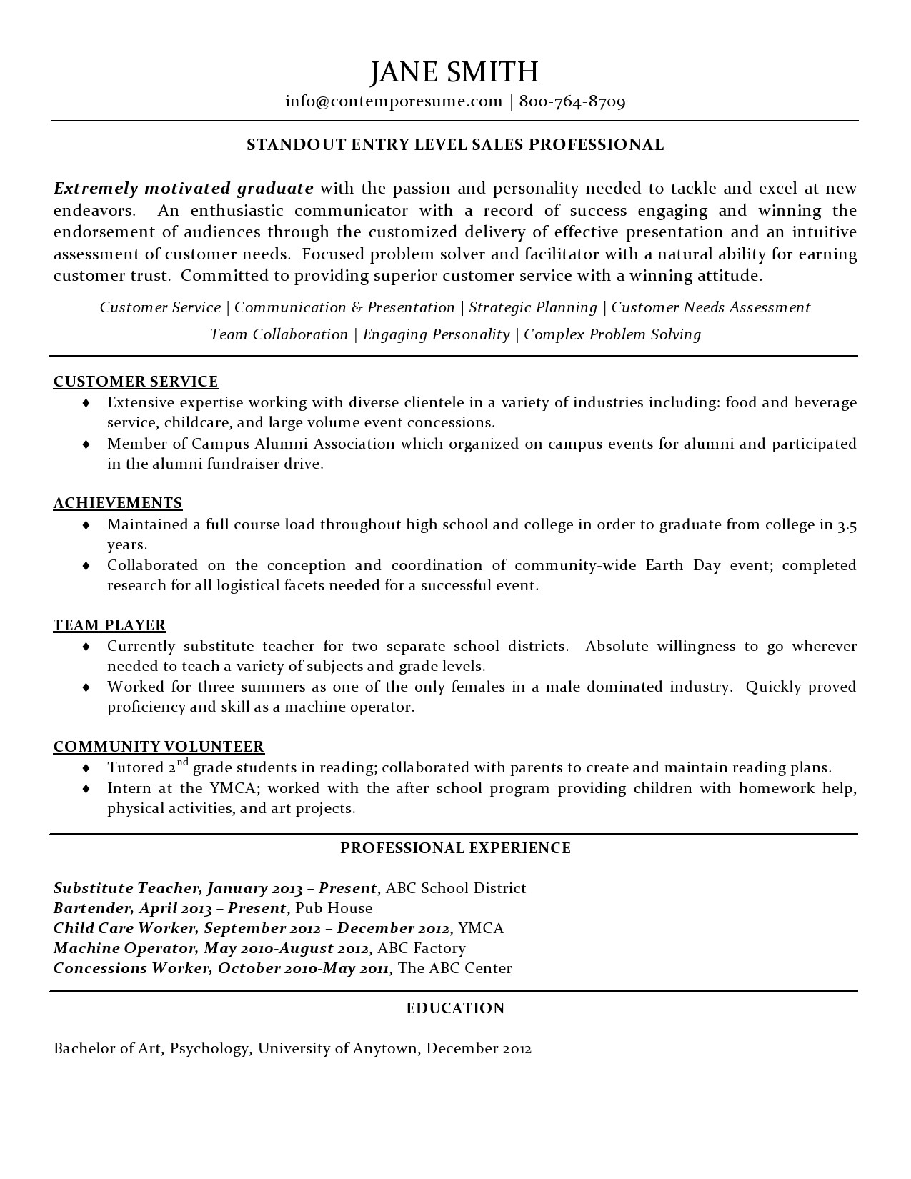 Event Volunteer Cover Letter Sales Professional Resume Entry Level