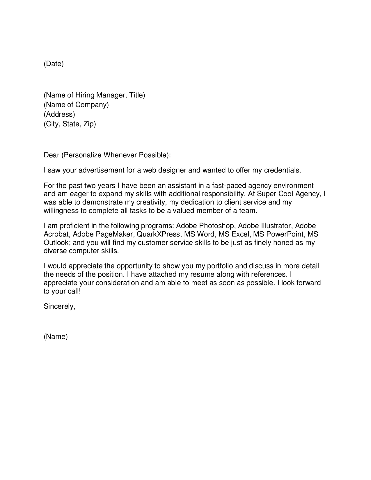 Addressing A Cover Letter To An Unknown Recipient Free Freedom