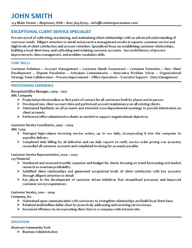 Customer Service Resume
