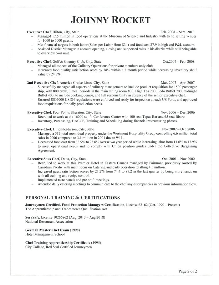 Executive chef resume executive chef resume sample thecheapjerseys Choice Image