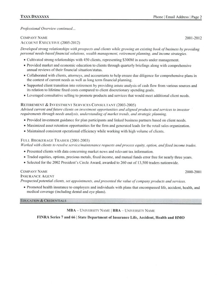 text version of the investment advisor resume sample - Wealth Management Advisor Sample Resume