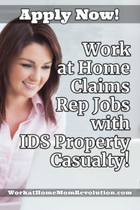 work at home claims rep jobs with IDS