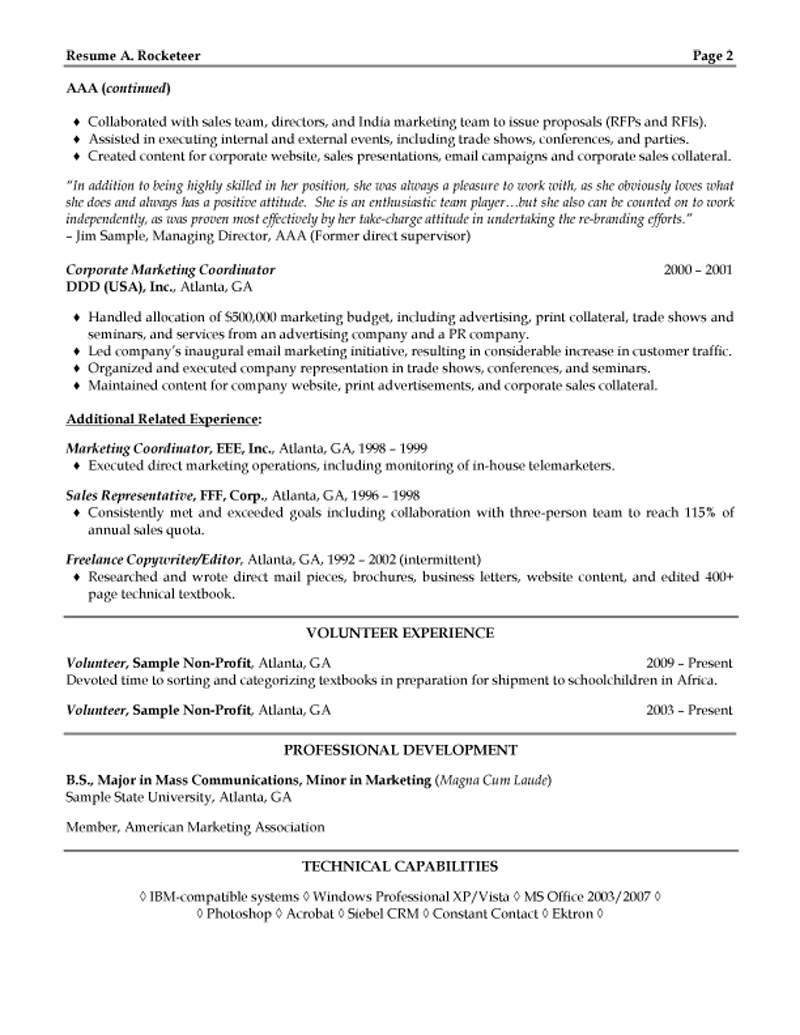 sales manager resume trade show experience cover letter sample