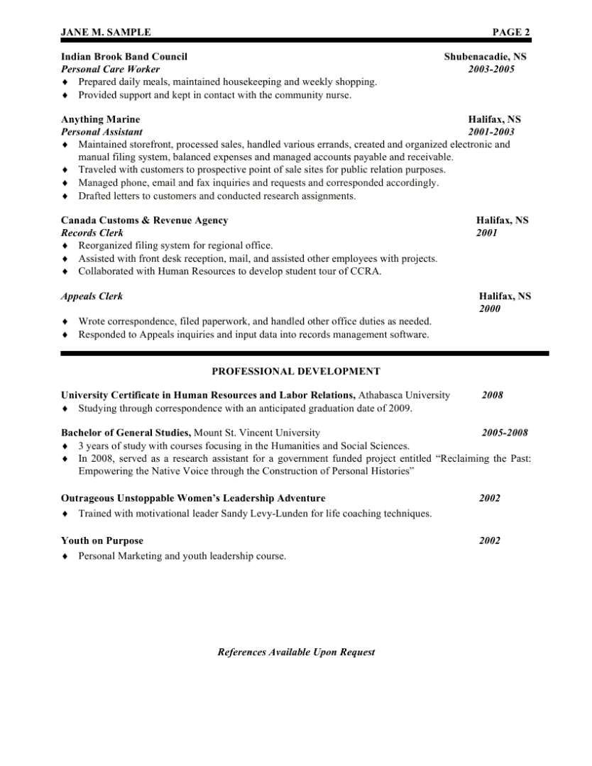 Human Resources Resumes Human Resources Assistant Resume