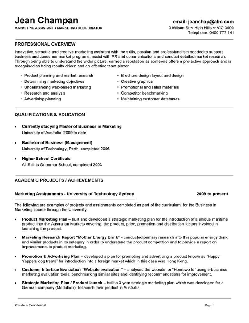 marketing communications associate resume samples