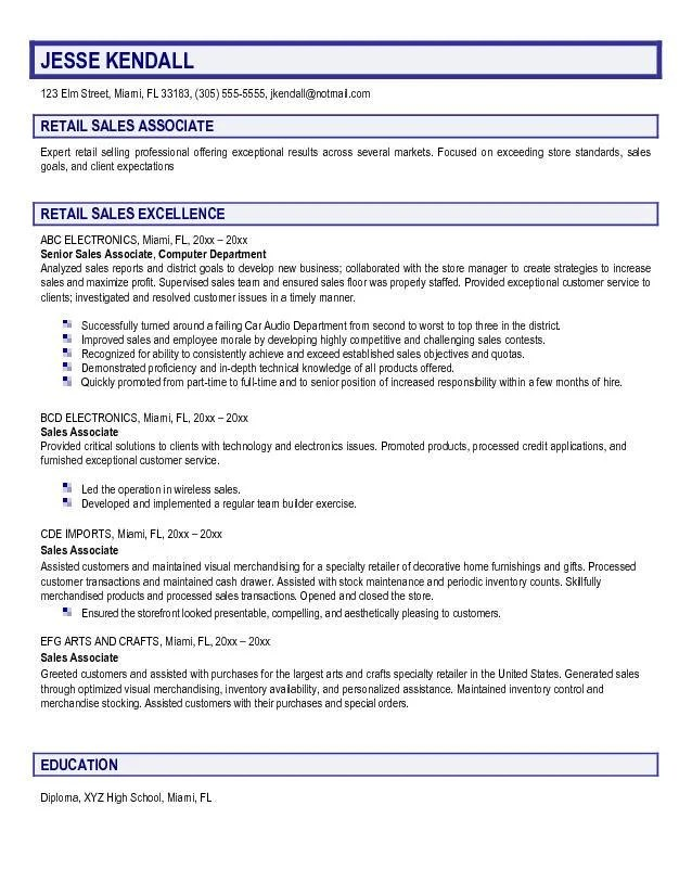 Example Resume For Retail Skills For Resume Sales Sainde Org