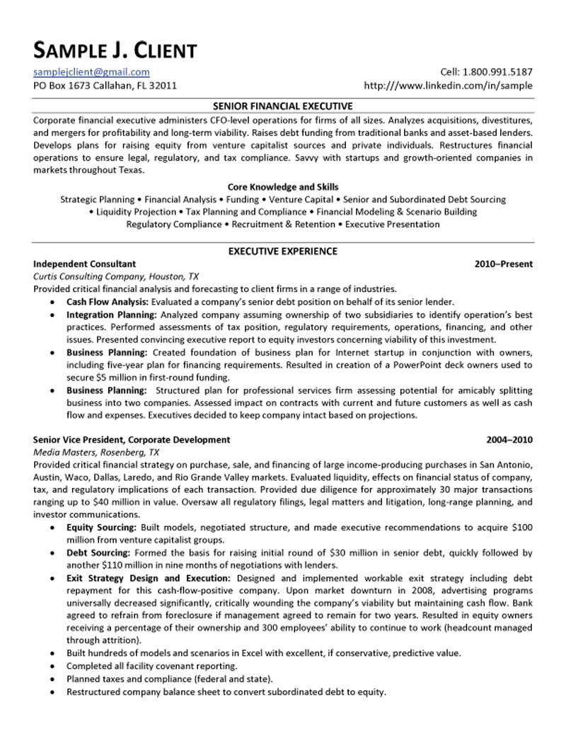 sample objective for resume management