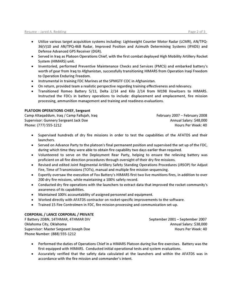 military to civilian resume examples infantry examples of resumes. Black Bedroom Furniture Sets. Home Design Ideas