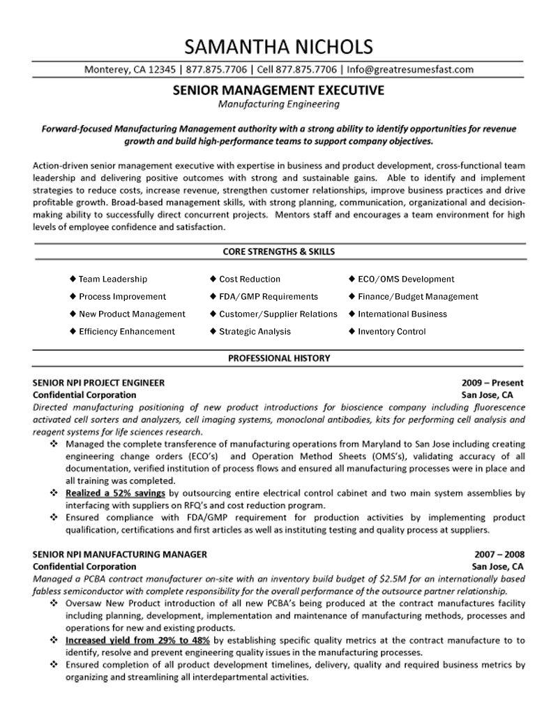Industrial Engineering Technician Cover Letter Manufacturing Engineering Resume