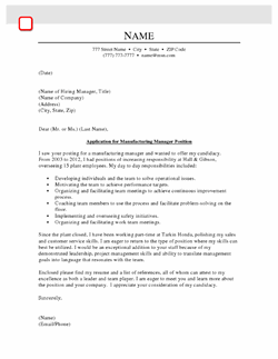 Operations  Supply Chain Cover Letter Samples
