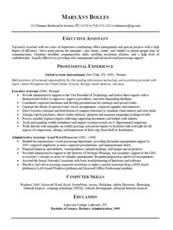 Resume Samples Intermediate Level