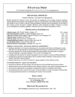 Resume Samples Military Background