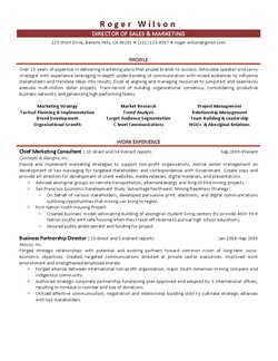 Resume Samples Experience In Non Profit Organizations