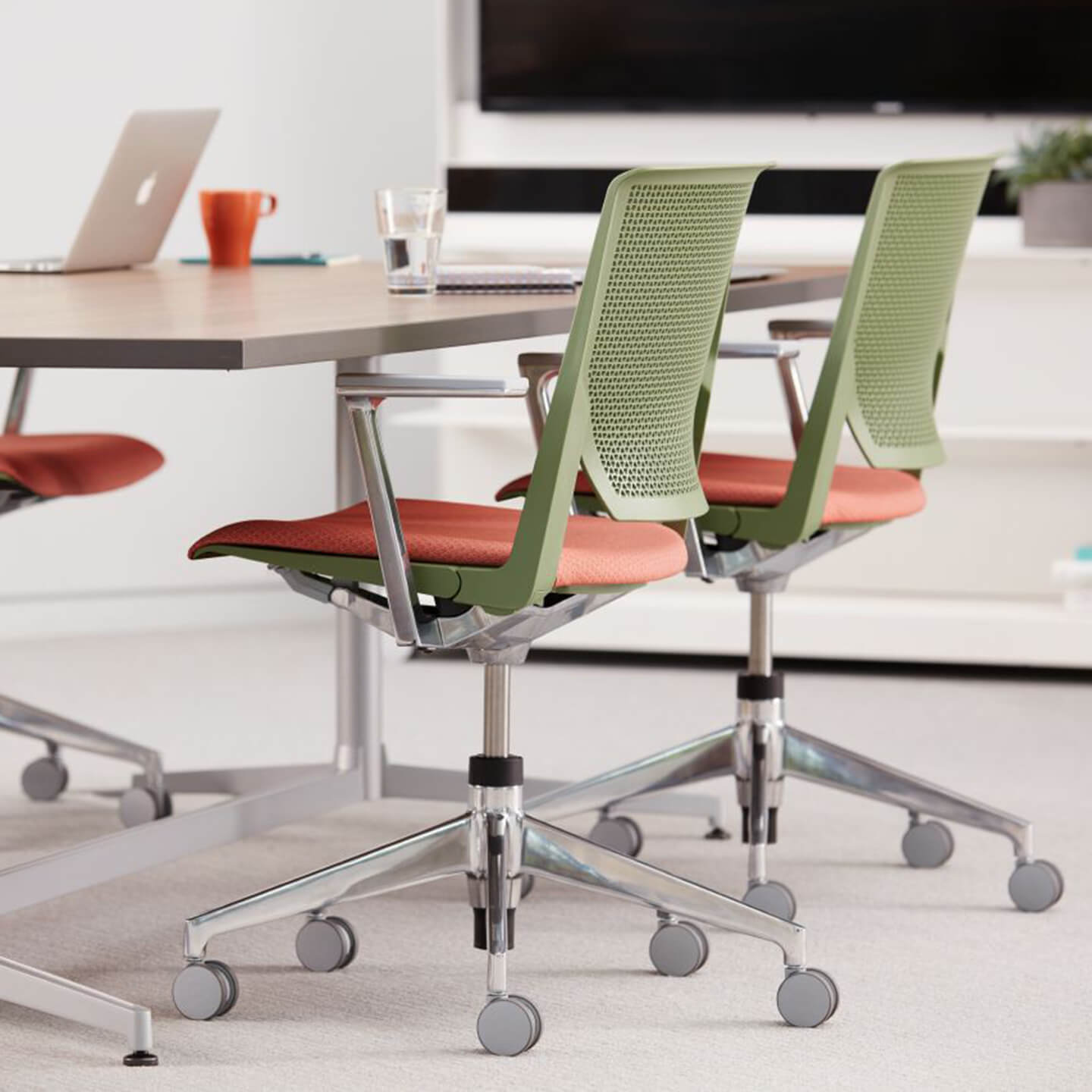 chair arm table attachment your zone flip haworth workbrands