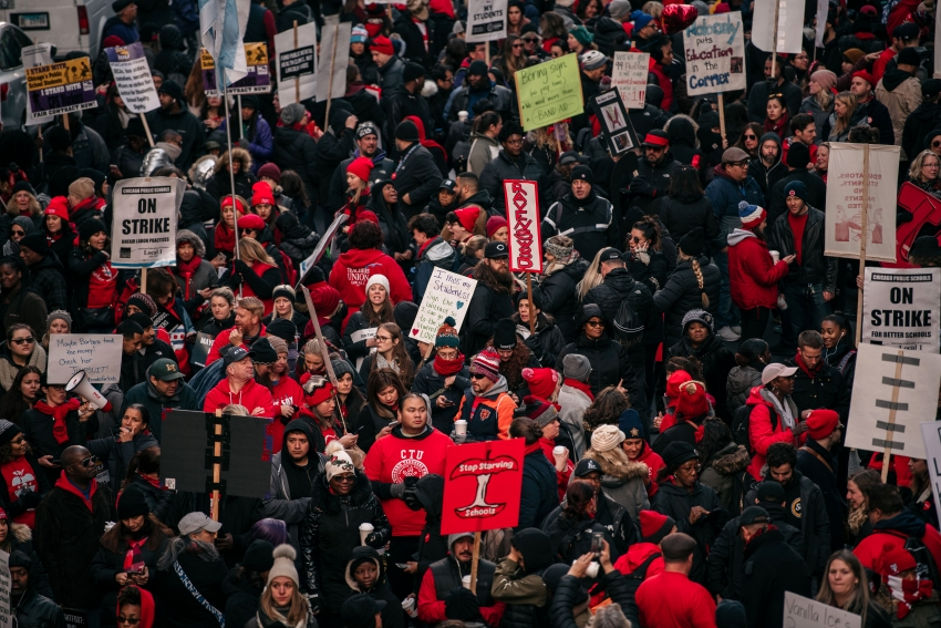 Chicago Teacher Union Crowd